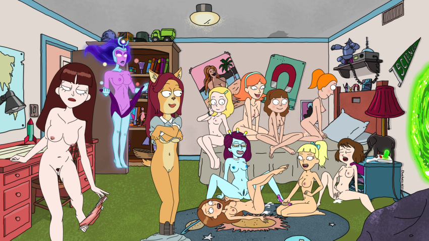 from rick and morty summer nude Bill cipher x dipper pines